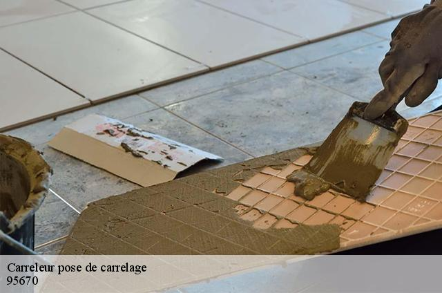 Carreleur pose de carrelage  95670